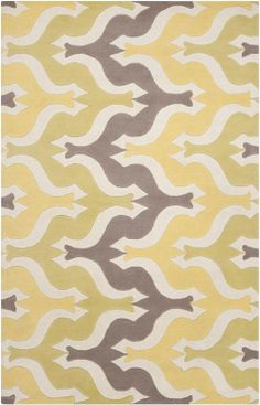 Am feeling that the gray/yellow scheme is overdone these days, but I keep coming back to this dreamy rug by Surya's Aimee Wilder Collection. $1,695.00