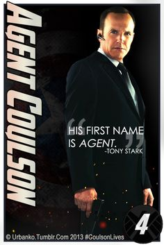 Agent Coulson. I need this in my room. Like, as a poster.