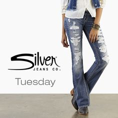 Tuesday Straight Fit And of course holy jeans... oh my goodness, rips never looked so good hehe :)