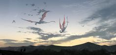 Hunting dragon, mist XG on ArtStation at https://www.artstation.com/artwork/xLXGR?utm_campaign=notify&utm_medium=email&utm_source=notifications_mailer