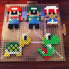 Mini Mario Bros perler beads by k.a.n.d.i.k.i.d