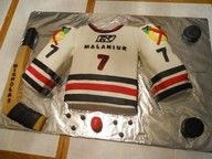 Hockey Cake    Deb check this out for Zac