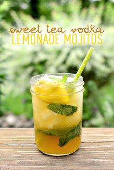 Sweet Tea Vodka Lemonade Mojitos | iowagirleats.com