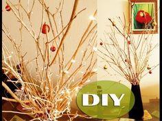 Coisas que Gosto: DIY: Árvore de Natal com Galho Seco / Thábatta Cam...