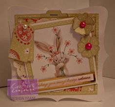 Gaynor Greaves - Bebunni Floral CD rom - Card Companion - Watercolour card - Centura Pearl Hint of Silver - #crafterscompanion