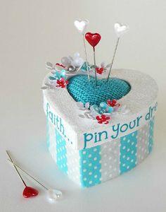 Doodlebug Design Inc Blog: Tuesday Tutorial: Pin Your Dreams Pin Cushion