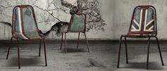 ... sedia #chairs #flag #loft #shabby #reggioemilia #homestaging More