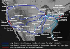 "Coast to coast by Amtrak from $218 ""A Guide to Train Travel in the USA 