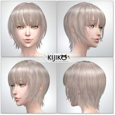 Kijiko: Bob with Straight Bangs (for Female) • Sims 4 Downloads
