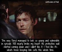 Could not have said it better myself. He really looked terrified when he looked Merle