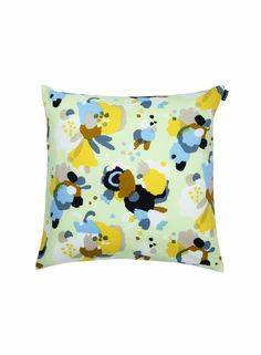Marie Cushion Cover (l.green, yellow, blue) | Décor, Cushion covers, Living room | Marimekko