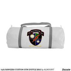 75th RANGERS CUSTOM GYM DUFFLE BAG