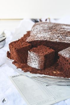 Rezept für einen Kakaokuchen meiner Oma Afternoon Snacks, Cake Cookies, Tea Time, Deserts, Low Carb, Sweets, Eat, Cooking, Breakfast