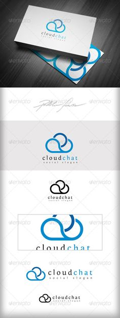 Cloud Chat Cloud Network Meteorology - Logo Design Template Vector #logotype Download it here: http://graphicriver.net/item/cloud-chat-cloud-network-logo-meteorology-logo/4931377?s_rank=78?ref=nesto