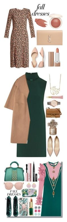 """Winners for Fall Fashion: Dresses"" by polyvore ❤ liked on Polyvore featuring Raey, Yves Saint Laurent, Marc Jacobs, falldresses, Theory, Chloé, FOSSIL, AERIN, Gucci and Linda Farrow"