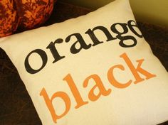 Black and Orange SF Pillow