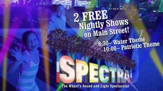 The new SPECTRA sound and light spectacular! Every night, two different shows, at 8:30 p.m. and 10:00 p.m at The Wharf Orange Beach!