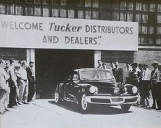 Vintage Framed Photograph - Tucker Automobile - 1948 - Old Cars - Chicago Illinois