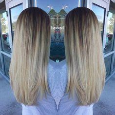 Blonde balyage color melt