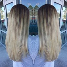 Blonde balyage color melt