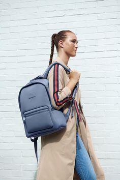 The Dakota Backpack in Ash Blue Gym Backpack, Computer Backpack, Sling Backpack, Fashion Backpack, Mens Gym Bag, Dagne Dover, Lightweight Backpack, Gym Gear, Designer Backpacks