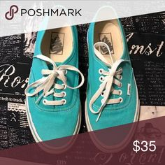 Teal VANS Warm once or twice. Other than that no flaws! Vans Shoes Sneakers