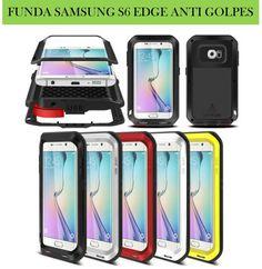 Fundas para móviles Smartphone Samsung Galaxy S6 Edge metal aluminio anti golpes.