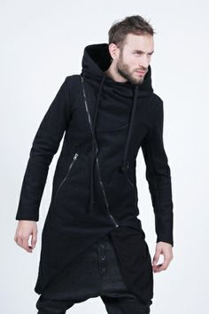 Asymmetrical Hooded Jacket - RabbitHole London