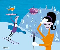 Shag (aka Josh Agle) HOLIDAYS ON ICE Valley of the Valet 2004 | Flickr -- this one works too.
