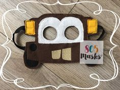 Cars Inspired Tow Mater Masks, Kids Masks, Kids Costumes, Mater Mask, Halloween mask, Dress up mask, Cars Birthday Party, Cars Party Favors by 805Masks on Etsy