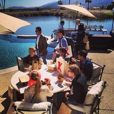 Outdoor lunchtime! #TEDActive