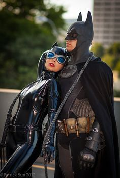 Batman & Catwoman. This is how stupid we could look for Halloween.
