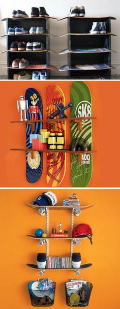 Put non used skateboards to good use.