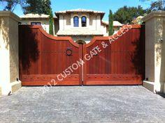 custom wooden driveway gate 150
