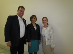 Capitol Hill - hallway meeting with WA Rep Bonamichi - Rare Disease Lobby Day 2013