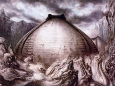 Egg silo I by H. R. Giger