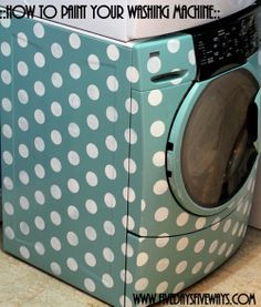 How to paint your washer and dryer.