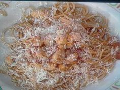 Cuochi per caso...o per forza!!: Spaghetti all'amatriciana con bocconcini di rana p...