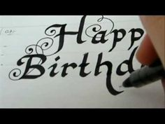 Happy Birthday - How To Write Fancy Letters for birthday card