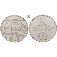 DDR, 10 Mark 1985, Humboldt Universität, st, J. 1606: 10 Mark 1985. Humboldt Universität. J. 1606; stempelfrisch 80,00€ #coins