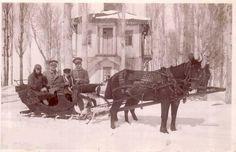 Erzurum köşk ve karda kızak....