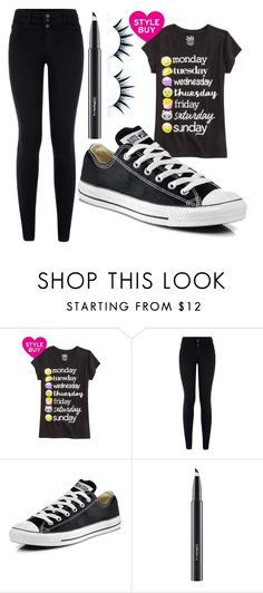 """""""Untitled #1409"""" by perbhaatkhowaja on Polyvore featuring Converse and MAC Cosmetics"""