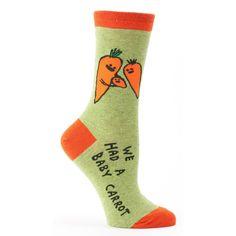 We Had A Baby Carrot Crew Socks