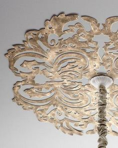 Metal Ceiling Medallion Scrolled Ceiling Medallion  Ceiling Chandelier Chain And Ceiling