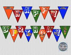 Super Smash Bros Video Game Birthday Banner  by LCMomCreations