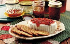 Hot Pepper Jelly, Cream Cheese & Crackers... what could be better ;)