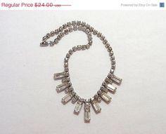 Half Off Bridal Jewelry Rhinestone Necklace by twocheekychicks