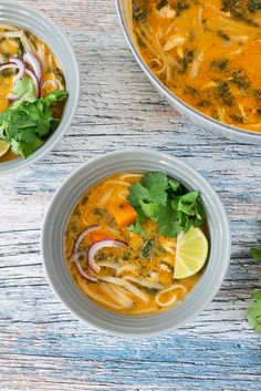 Thaisuppe med kylling og grønt Fodmap, Winter Food, Thai Red Curry, Soup Recipes, Yummy Food, Lunch, Snacks, Supper, Soups
