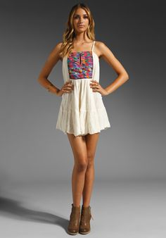 JEN'S PIRATE BOOTY Guipil Summer Sun Dress in Natural