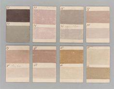 Colour paint samples produced for Barnbarroch House in 1807